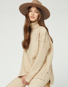 Sand Turtleneck Sweater