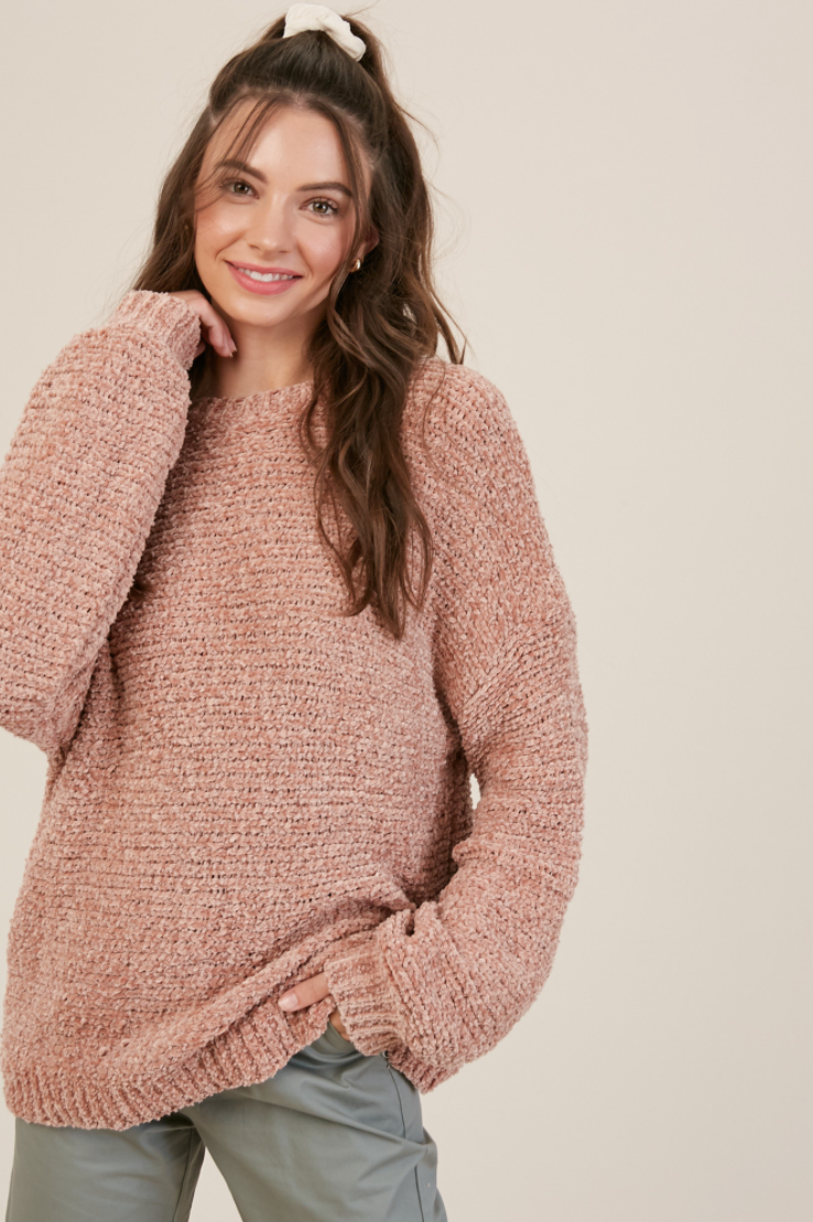 Blush Chenille Sweater