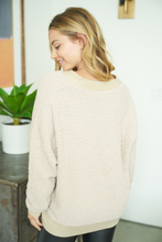 Taupe Knit Oversized Sweater