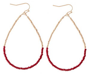 Half & Half Red Earrings