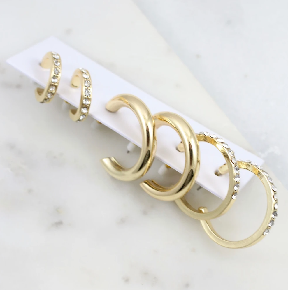 Gold Gianni Hoop Set