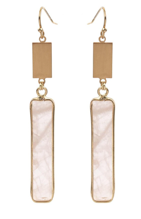 Blush Bar Earrings