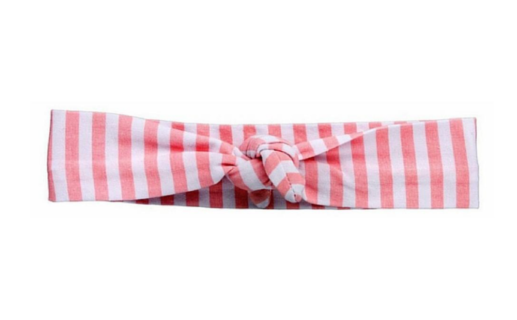 Pink Striped Knotted Headband