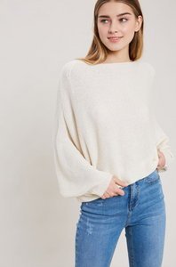 Ivory Dolman Sleeve Sweater