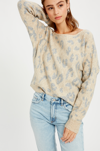 Leopard OTS Sweater