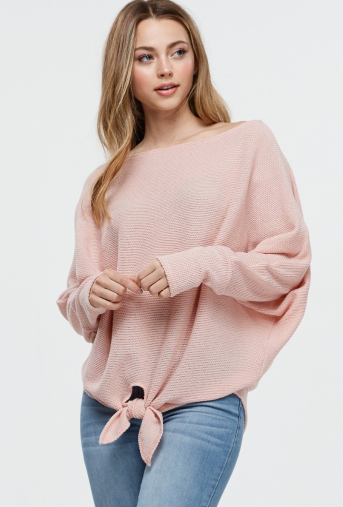 Blush Knotted Top