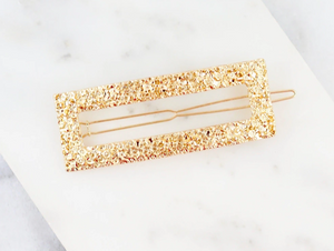 Rectangle Textured Hair Pin