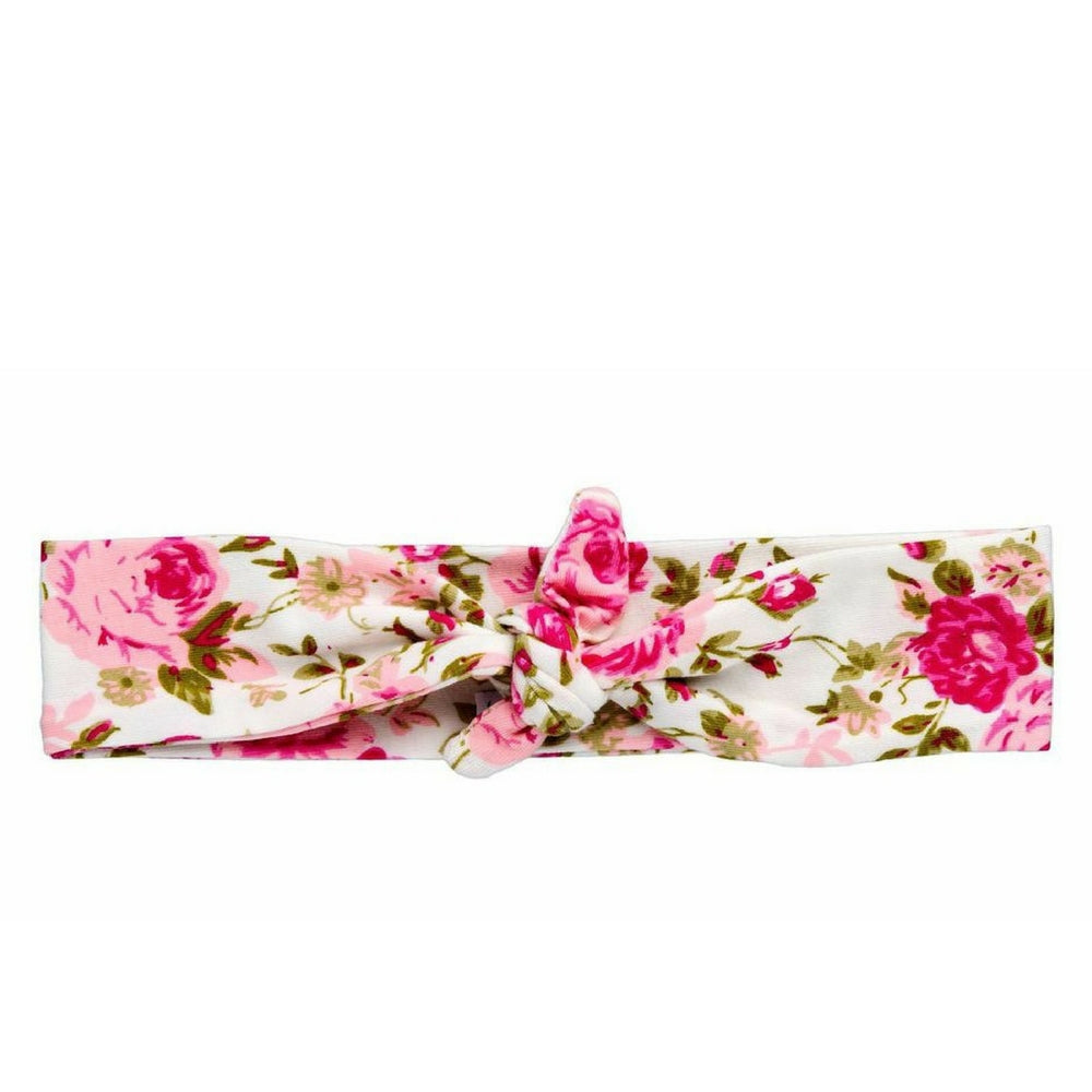 Pink Floral Knotted Headband