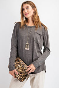 Charcoal Pocket Top