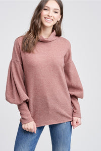 Mocha Puff Sleeve Top