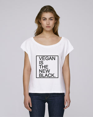 PROMO - VEGAN IS THE NEW BLACK - CROP TOP