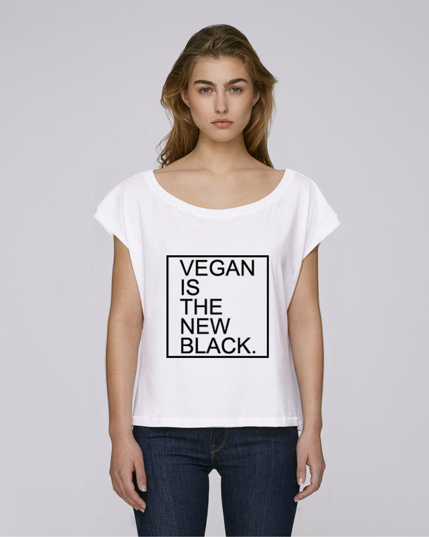 VEGAN IS THE NEW BLACK - CROP TOP