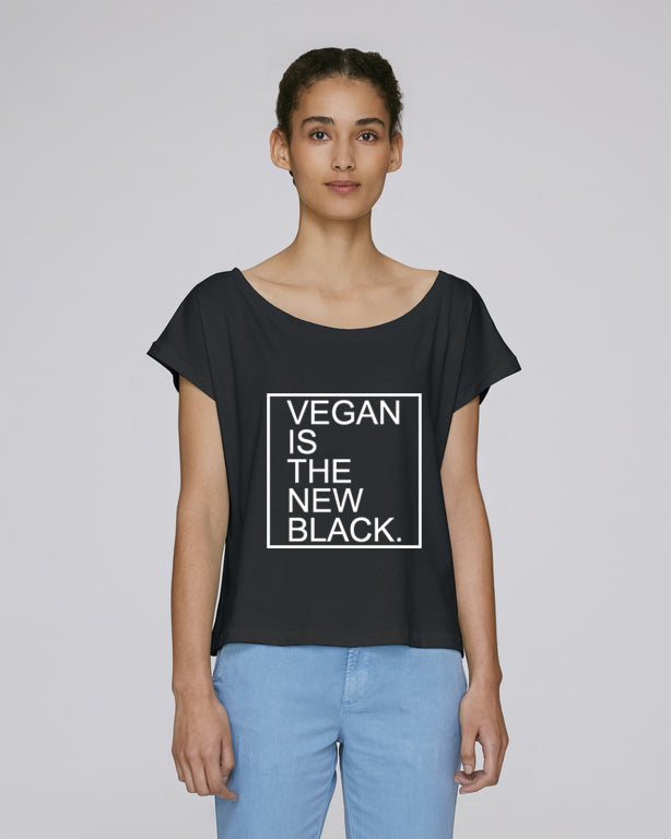 8c193e26bdff PROMO - VEGAN IS THE NEW BLACK - CROP TOP – VGTL by The Green Family