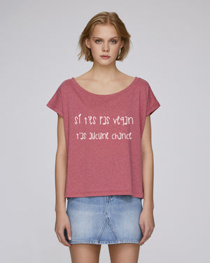 SI T'ES PAS VEGAN, T'AS AUCUNE CHANCE - CROP TOP
