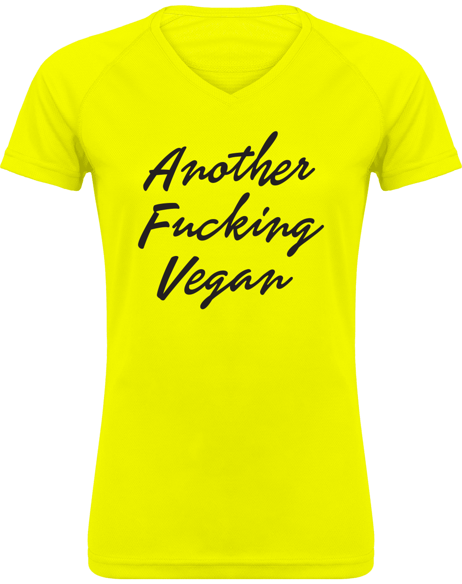 Tee Shirt Sport Femme Col V - Another fucking vegan
