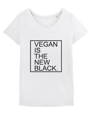 VEGAN IS THE NEW BLACK - Col rond
