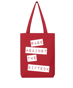 "Tote bag ""RAGE AGAINST THE BIFTECK"""
