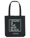 "Tote bag - ""VEGAN IS THE NEW BLACK"""