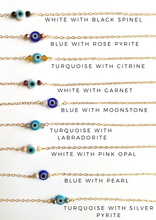 Evil Eye and Gemstone Choker Necklace