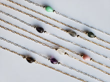 Teardrop Gemstone Necklace