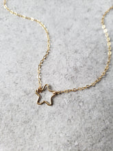 Small Open Star Necklace
