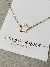 Large Open Star Necklace