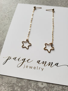 Open Star Dangle Earrings