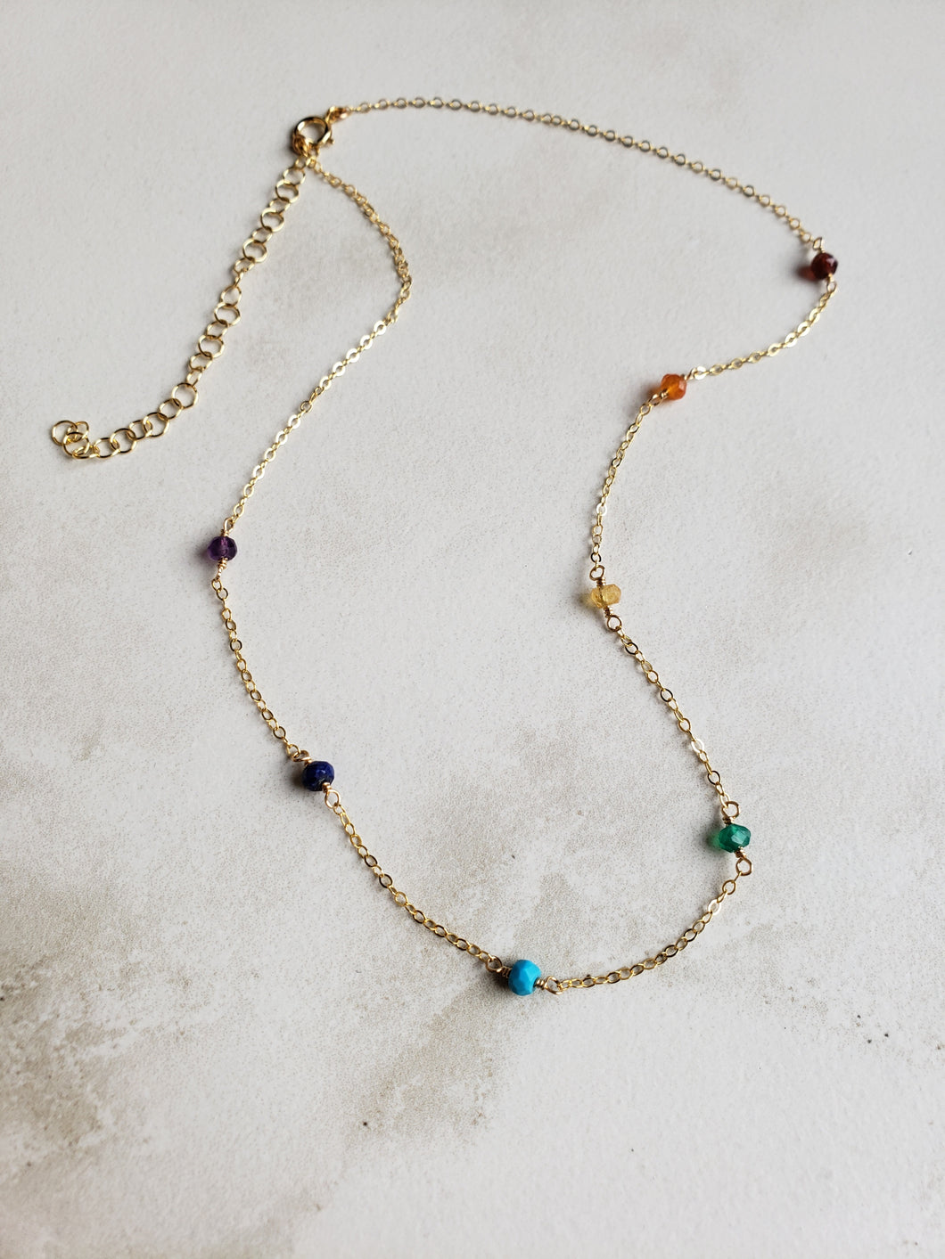 Segmented Rainbow Necklace