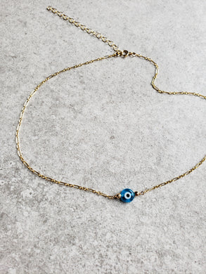 Evil Eye Necklace - Large Bead