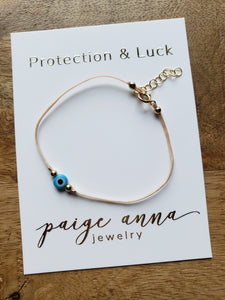 Evil Eye String Choker - 6mm Bead