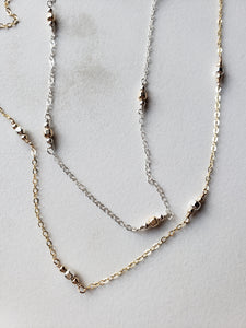 Mixed Metals Segmented Necklace