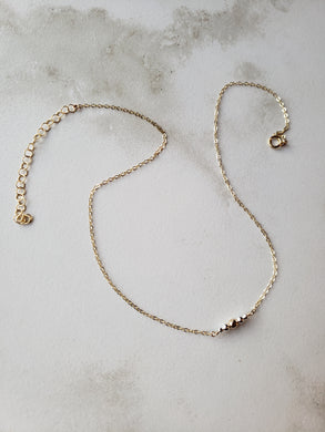 Mixed Metals Bar Necklace