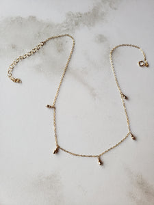 Mixed Metals Dangle Necklace