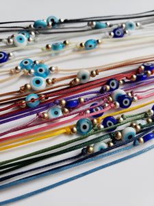 Evil Eye Wrap - Glass Beads