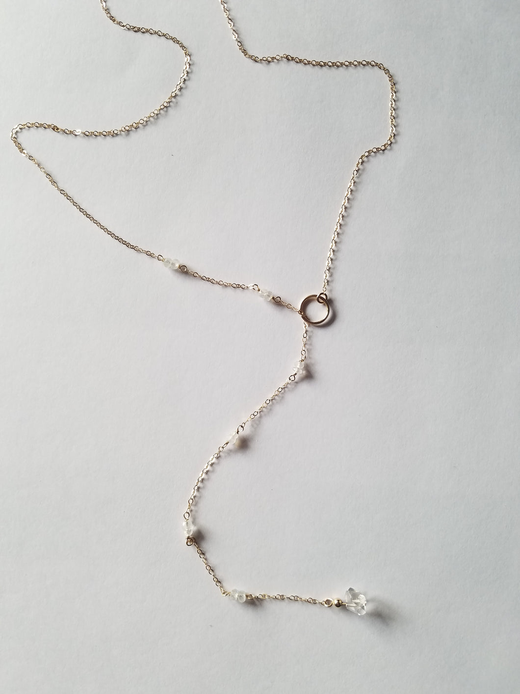 Herkimer Slip Through Lariat Necklace
