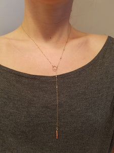 Slip Through Lariat Necklace