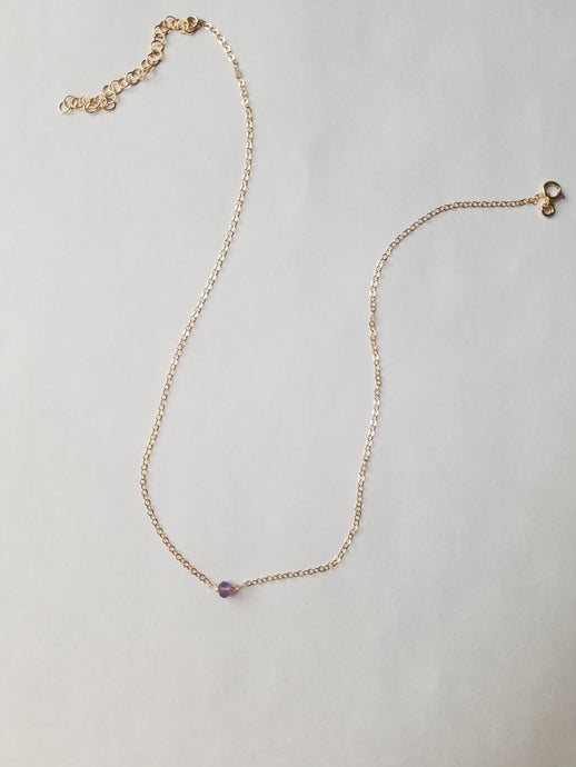 Single Gemstone Necklace