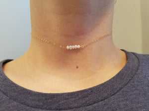 Mini Bar Necklace Choker Style