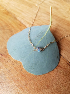 Single Gemstone Necklace Choker Style