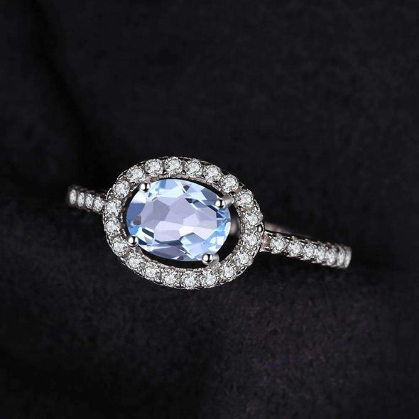 1ct Natural Blue Topaz 925 Sterling Silver Ring | TeresaClare
