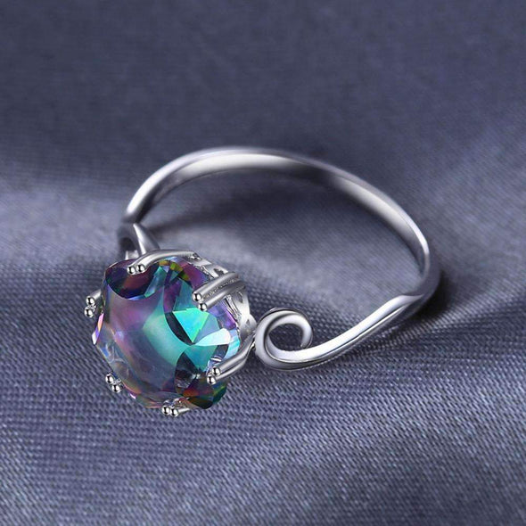 3.2ct Rainbow Fire Mystic Topaz Ring | TeresaClare