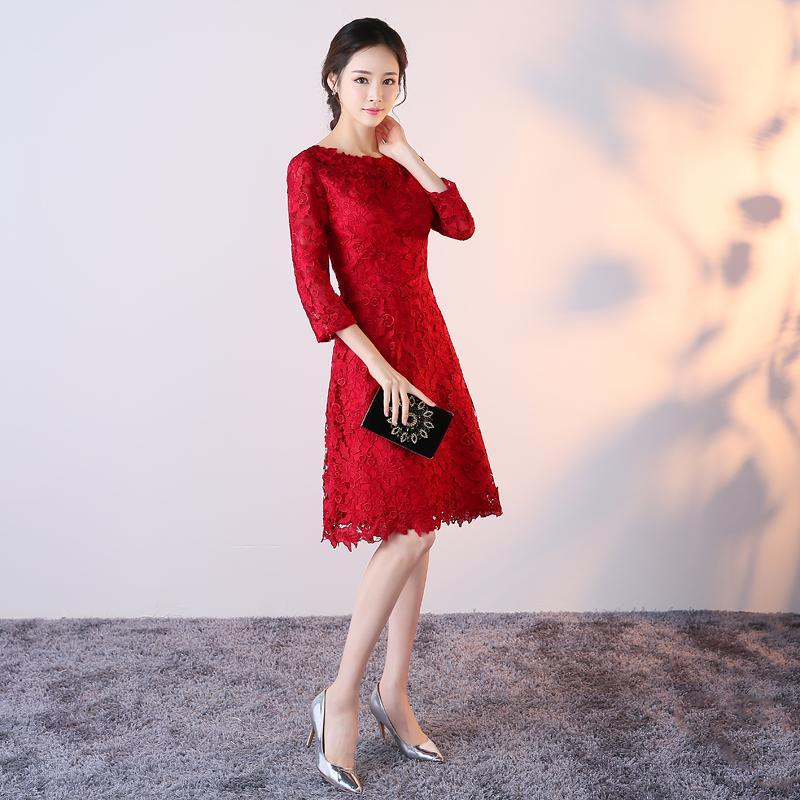 A-Line 3 4 Sleeved Knee-Length Cocktail Dress On Sale! – TeresaClare cba643d04