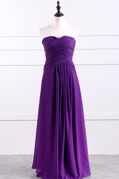 A-Line Floor-Length Chiffon Sleeveless Prom Dress With Ruffles | TeresaClare