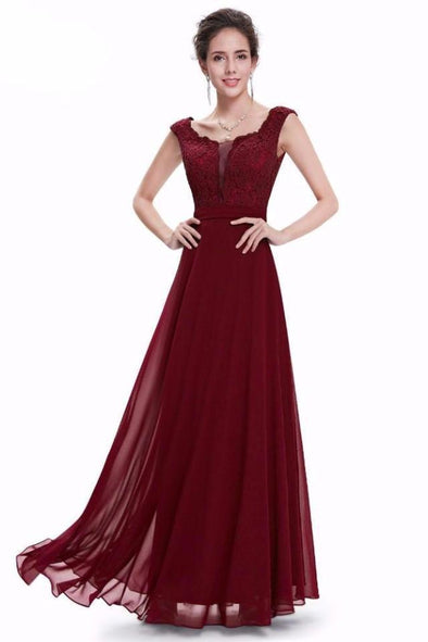 A-Line Floor-Length Chiffon Special Occasion Evening Dress | TeresaClare