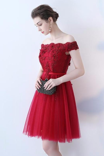 A-Line Homecoming Dress With Beading And Appliques | TeresaClare