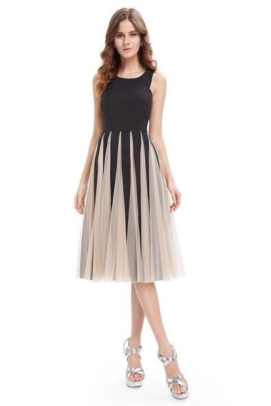 A-Line Organza Sleeveless Knee-Length Cocktail Dress | TeresaClare
