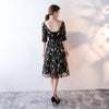 A-Line Scoop Neck 1/2 Sleeves Tea-Length Holiday Dress | TeresaClare