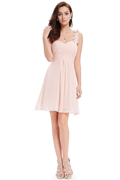 A-Line Sleeveless Knee-Length Chiffon Homecoming Dress | TeresaClare