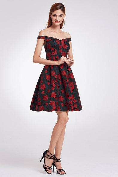 A-Line Sleeveless Strapless Cocktail Dress With Patterns | TeresaClare