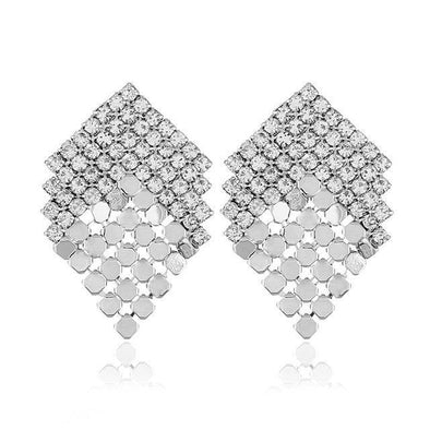 Alloy Geometric Stud Earrings Fashion Rhinestone | TeresaClare